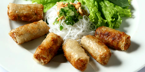 Cha gio - nem - pork rolls with crab