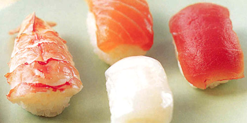 Nigiri sushi - sushi - raw fish on rice